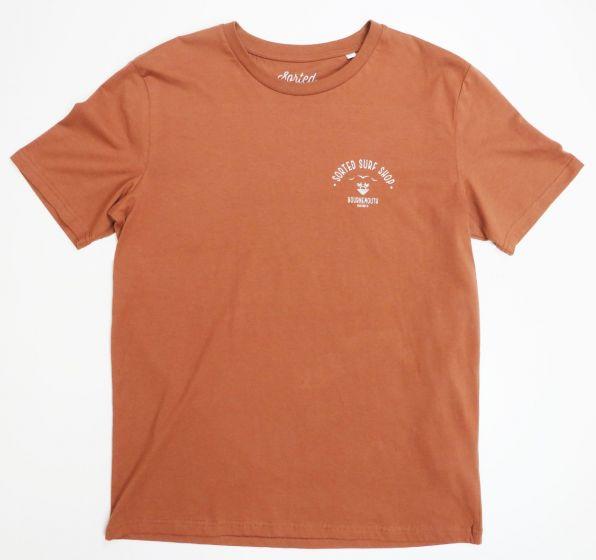 Sorted Surf Shop Arc T Shirt - Camel
