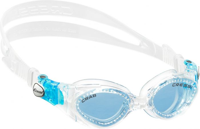 Cressi Crab Azure Lens Kids Goggles - Clear
