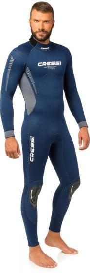 Cressi Fast Man 3mm Monopiece Dive Wetsuit - Blue