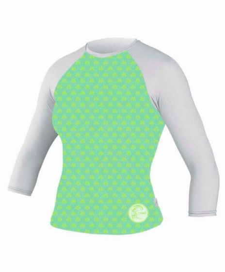 O´Neill Skins Ladies Mid Sleeve Rash Vest - GREEN