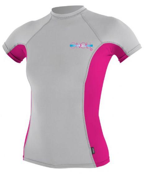 O´Neill Ladies Skins S/S Crew Rash Vest 2015 - Lunar