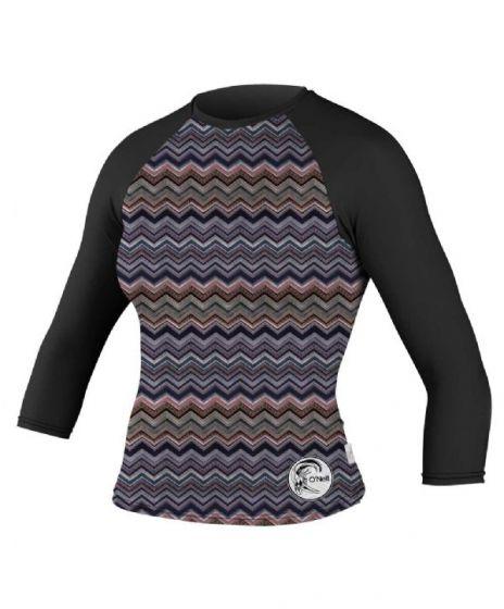 O´Neill Skins Ladies Mid Sleeve Rash Vest 2015 - BLACK