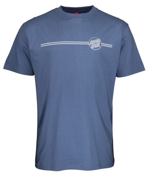 Santa Cruz Opus Dot Stripe T-Shirt in Washed Navy
