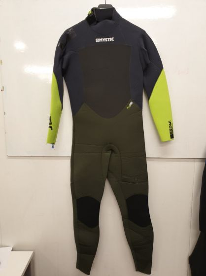 Mystic Star 5/4mm Back Zip Mens Winter Wetsuit in Army - Large