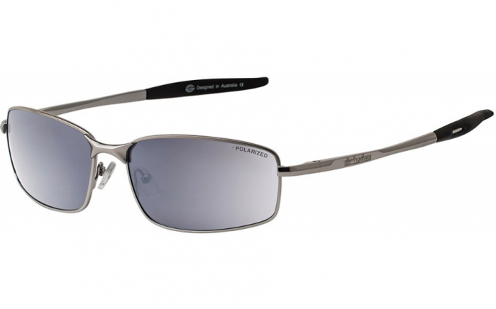 Dirty Dog Goose Polarised Sunglasses - Silver/Silver Mirror