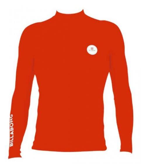 Billabong Kids All Day Long Sleeve Rash Vest - Red