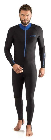 Cressi Skin Man Monopiece 1mm Swimsuit - Black/Blue