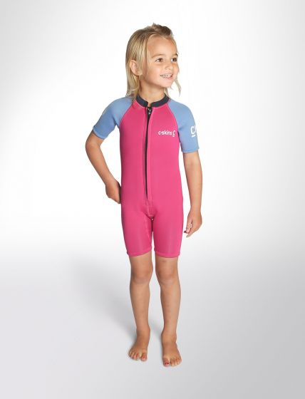 Toddelrs 2mm Shorty Girls Wetsuit