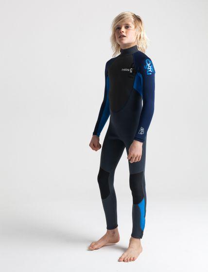C Skins Element 3/2mm Kids Wetsuit 2021 - Graph / Cyan
