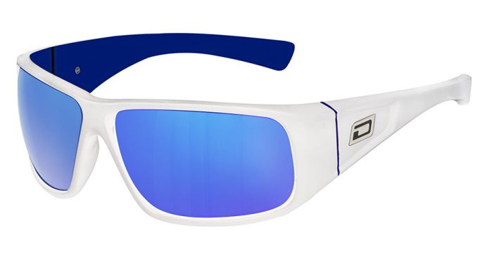 Dirty Dog Ultra Polarised Sunglasses - White/Blue Mirror