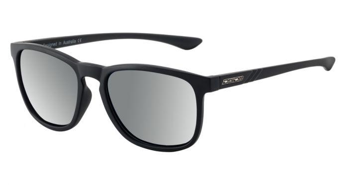 Dirty Dog Shadow Polarised Sunglasses - Satin Black/Silver Mirror