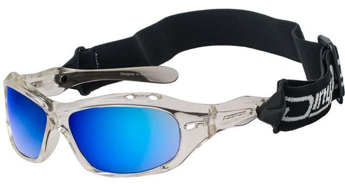 Dirty Dog Curl II Floating Polarised Sunglasses - Clear/Blue Mirror