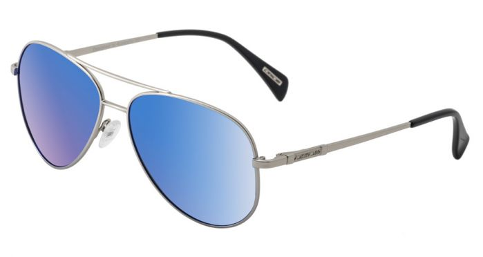 Dirty Dog Maverick Polarised Sunglasses - Silver/Blue Mirror