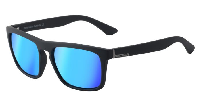 Dirty Dog Ranger Polarised Sunglasses - Satin Black/Ice Blue Mirror