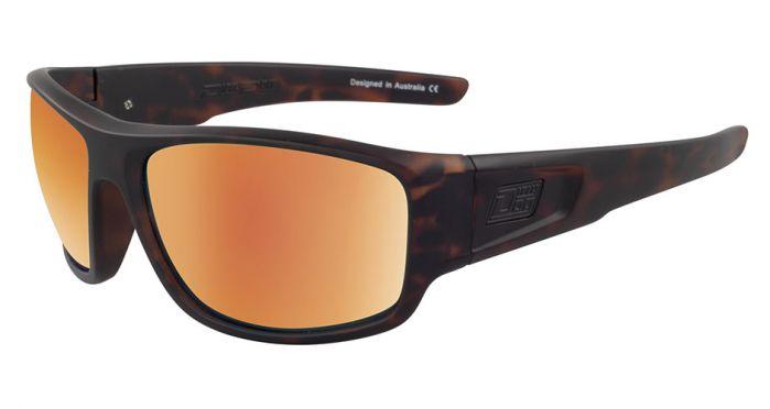 Dirty Dog Muffler Polarised Sunglasses - Satin Tort/Gold Fusion