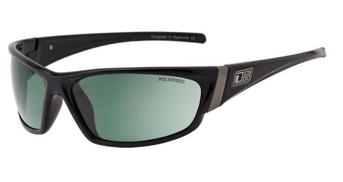 Dirty Dog Stoat Polarised Sunglasses - Black / Green