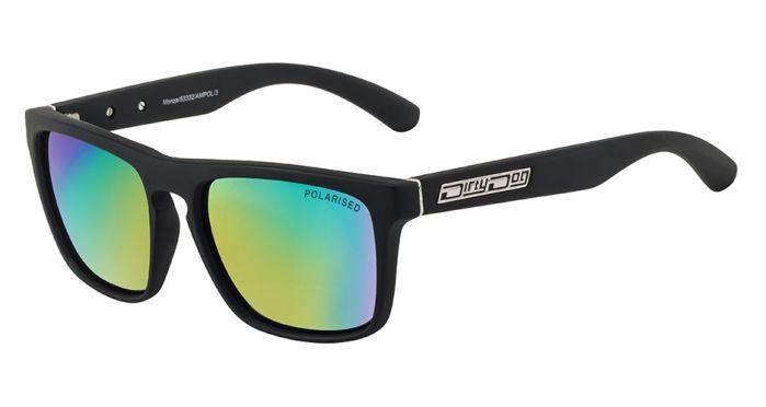 Monza Sunglasses Lens Grey/Green Fusion Mirror Polarised