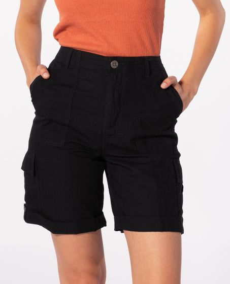 Rip Curl Women's Oasis Muse Cargo Short in Black