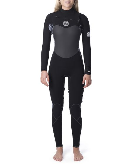 Rip Curl Flash Bomb 3/2mm Steamer Chest Zip Womens Wetsuit 2020 - Black