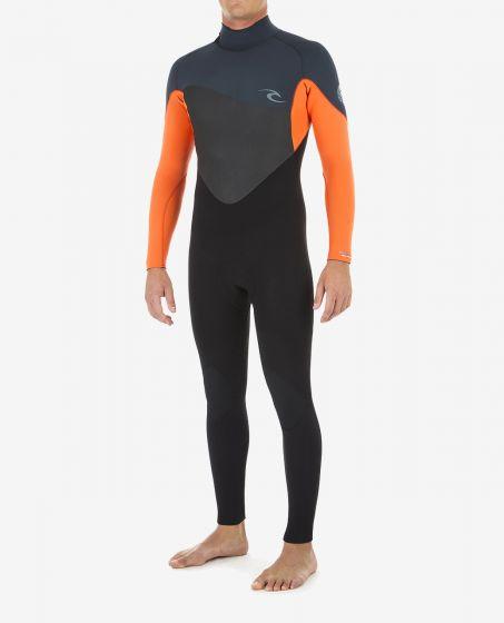 Rip Curl Omega 3/2mm Steamer Mens Wetsuit 2020 - Orange