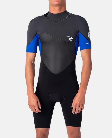 Rip Curl Omega 1.5mm Shorty Spring Wetsuit 2021 - Blue/Black