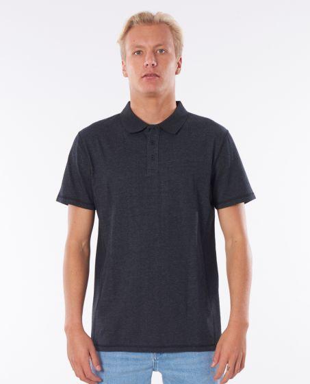 Rip Curl Pivoting Polo Mens Shirt - Black Marled