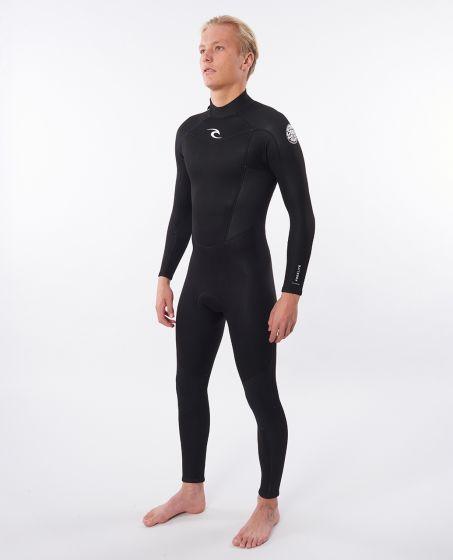 Rip Curl Freelite 3/2mm Back Zip Mens Wetsuit 2021 - Black