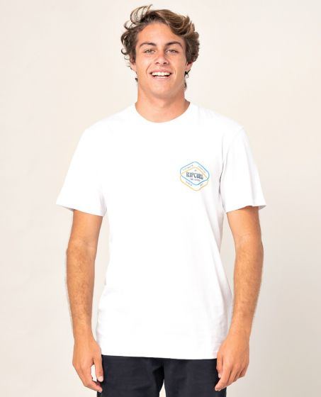 Rip Curl Twice D'Ams T-Shirt in Optical White
