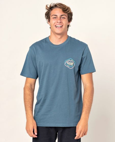 Rip Curl Twice D'Ams T-Shirt in Washed Navy