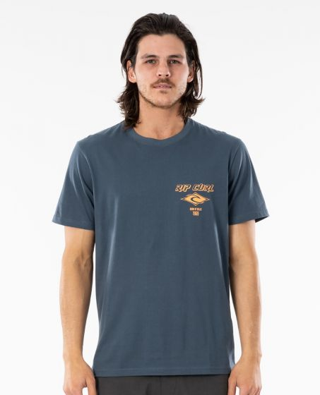 Rip Curl Fadeout Essential T-Shirt in Washed Navy