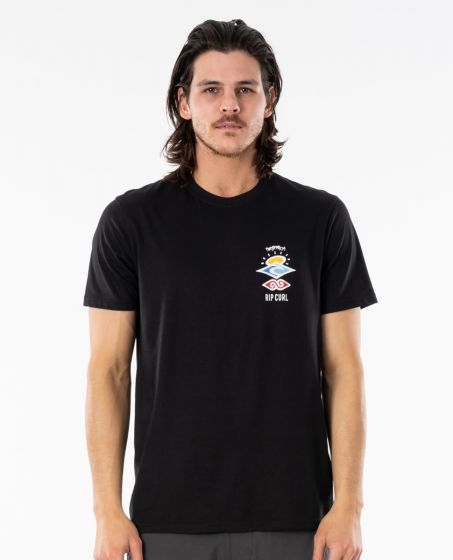 Rip Curl Search Essential T-Shirt in Black