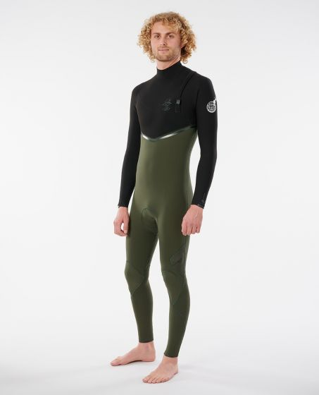 Ripcurls E BOMB 3.2mm Zip Free Wetsuit 2021 - Olive - Front
