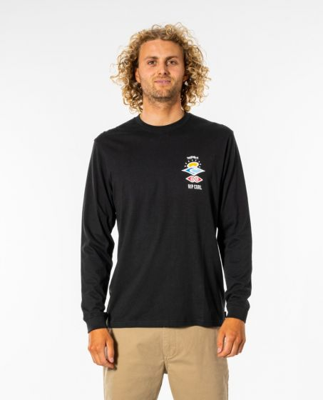 Rip Curl Search Essential Long Sleeve T-Shirt in Black