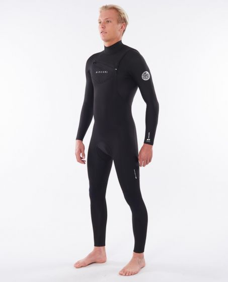 Rip Curl Dawn Patrol Performance 3/2mm Chest Zip Wetsuit 2020 - Black