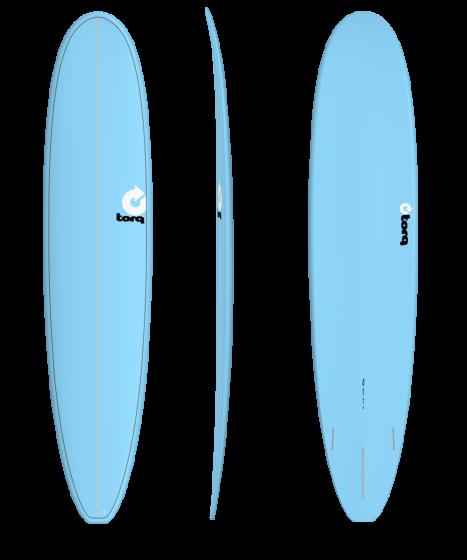 Torq 9'0 Longboard Surfboard - Blue Pinline