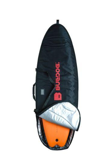 Bulldog 5mm 6ft 7 Fish SurfBoard Bag - Black