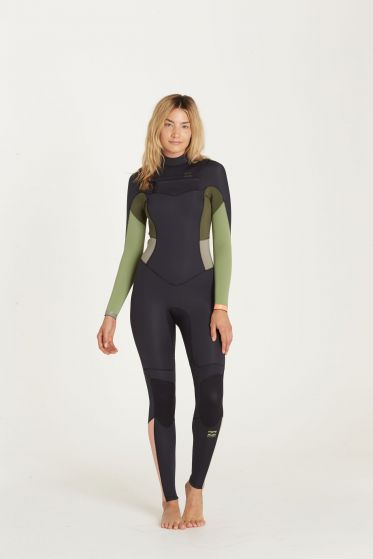 Billabong Ladies Synergy 3/2mm Chest Zip Wetsuit 2018