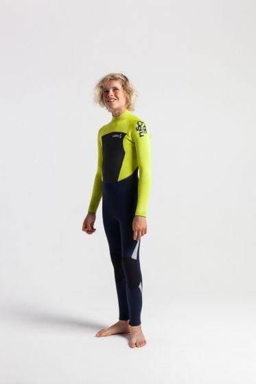 C Skins legend 5/4mm junior back zip green wetsuit