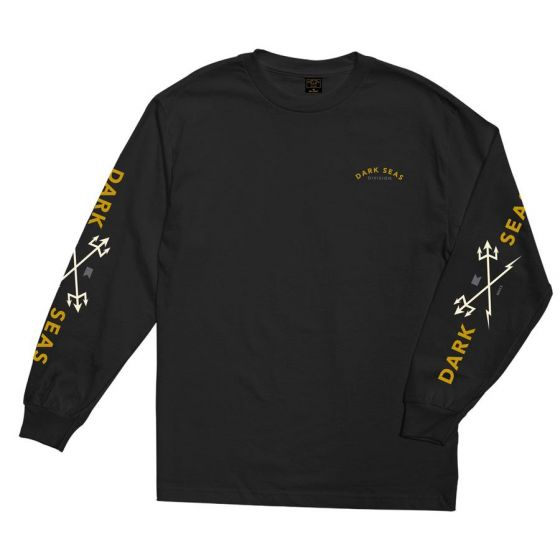 Dark Seas Headmaster Long Sleeve T Shirt - Black