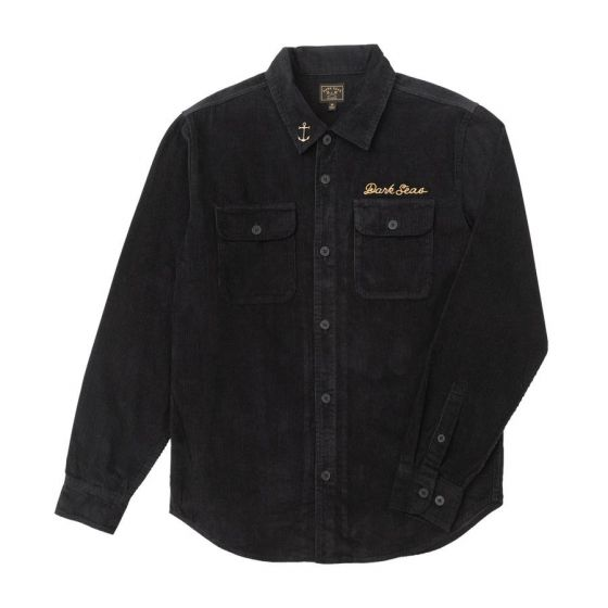 Dark Seas Bricklayer Corduroy Shirt - Black