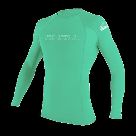 O'Neill Youth Basic Skins Long Sleeve Rash Vest 2021 - Light Aqua