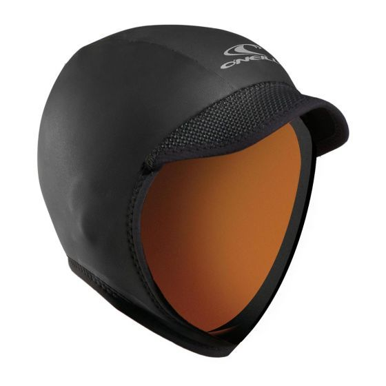 O'Neill Squid Lid 3mm Wetsuit Hood - Black - Close Up