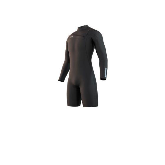Mystic Mens Marshall Longarm Shorty 3/2mm Wetsuit 2021 - Black - Front