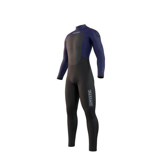 Mystic Star 3/2mm Mens Back Zip Summer Wetsuit - Navy