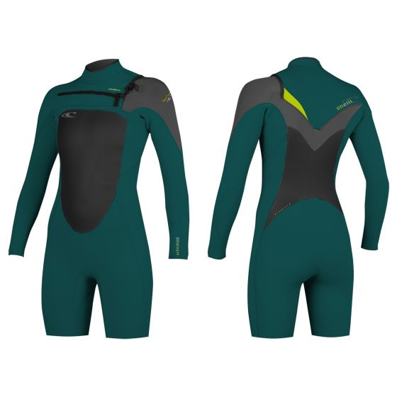 Superfreak Womens Long Arm Shortie Wetsuit