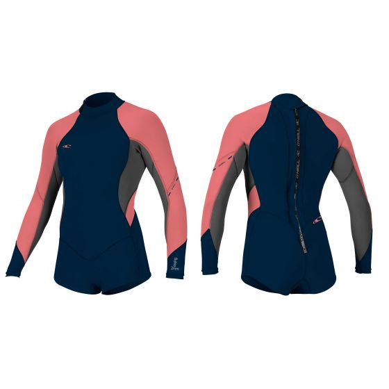 O'Neill Bahia Ladies 2/1mm Long Sleeve Shortie Wetsuit 2017 - Coral