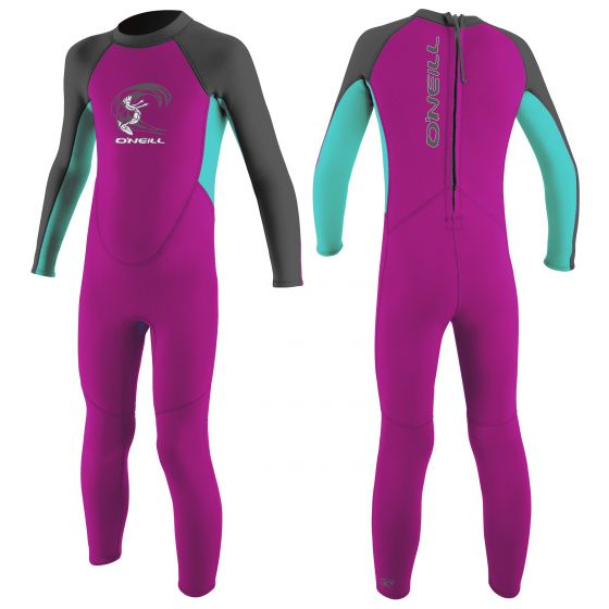 O'Neill Reactor 2mm Girls Toddler Wetsuit