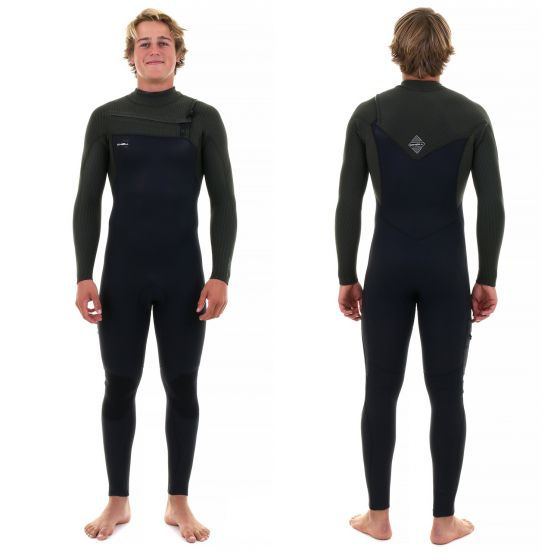 O'Neill Mens Hyperfreak 4/3mm Chest Zip Wetsuit 2018 TB3