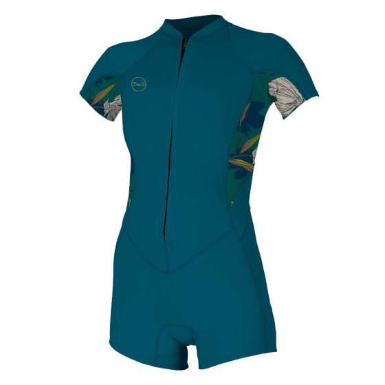 O'Neill Bahia 2/1mm Front Zip Womens Shorty Wetsuit 2021 - French Navy