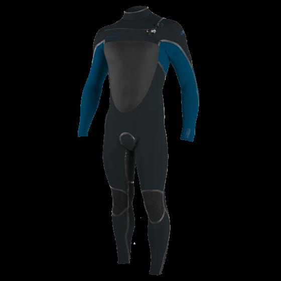 O'Neill Psycho Tech 5/4+mm Chest Zip Wetsuit 2021 - Gunmetal / Ultrablue